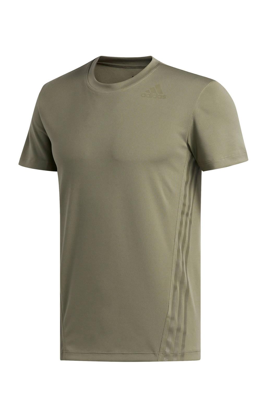 adidas Performance   sport T-shirt olijfgroen, Olijfgroen