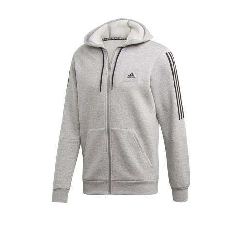 adidas performance sportvest grijs-zwart