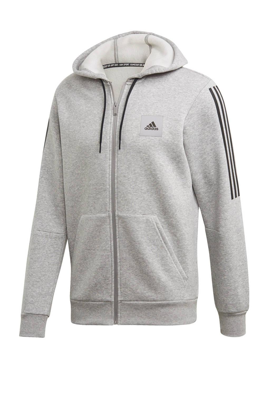 adidas   sportvest grijs/zwart, Grijs/zwart