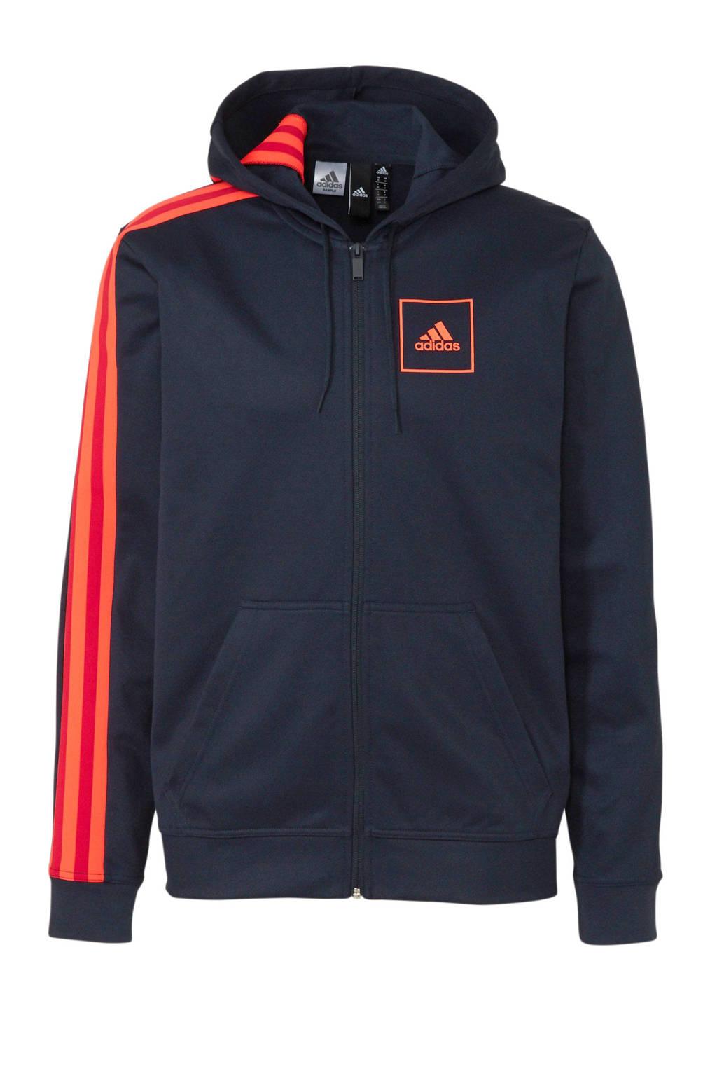 adidas   sportvest donkerblauw/rood/oranje, Donkerblauw/rood/oranje