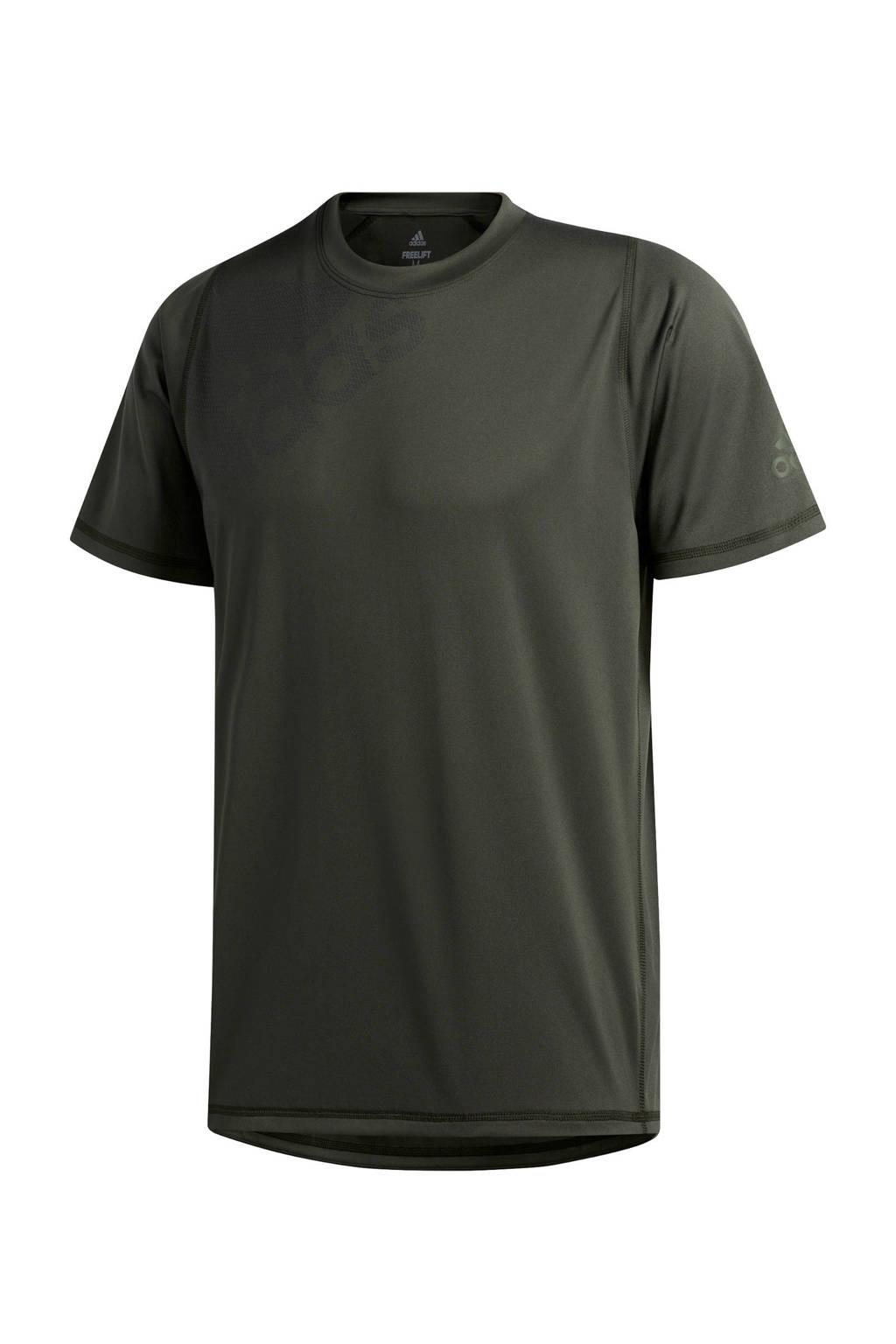 adidas Performance   sport T-shirt donkergroen, Donkergroen