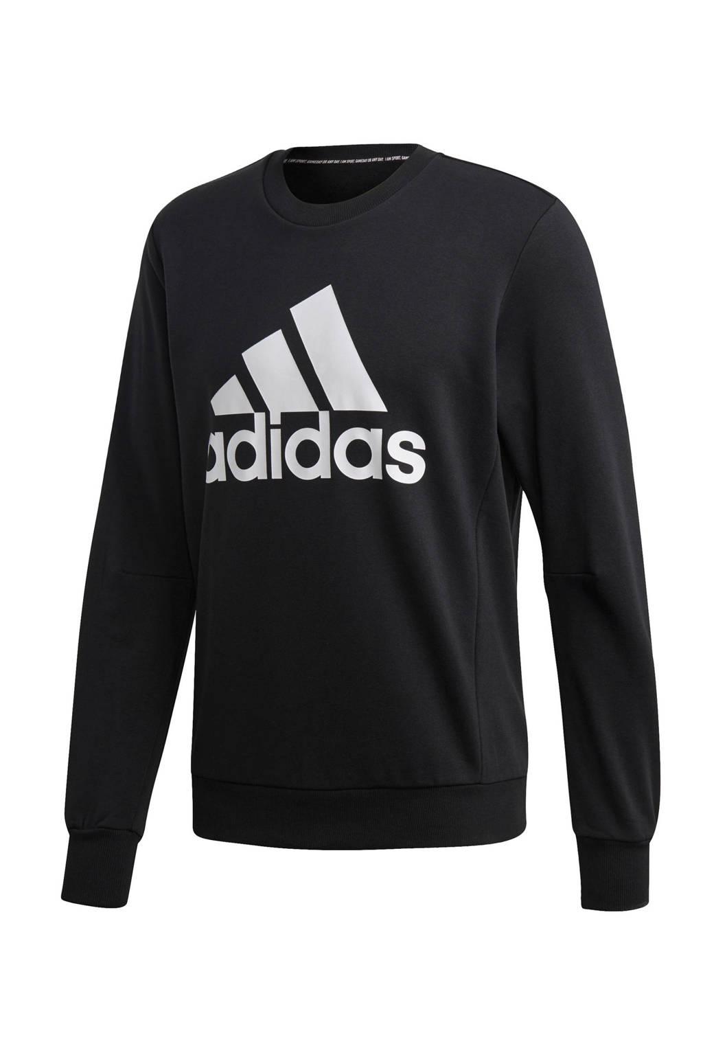 adidas   sportsweater zwart, Zwart