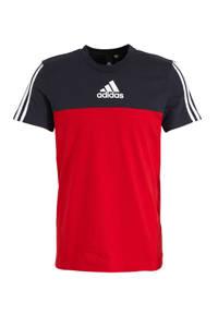 adidas Performance   sport T-shirt rood/donkerblauw, Rood/donkerblauw