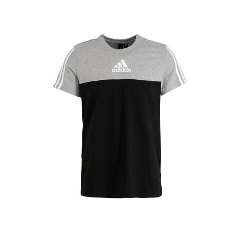 adidas Performance sport T-shirt zwart/grijs