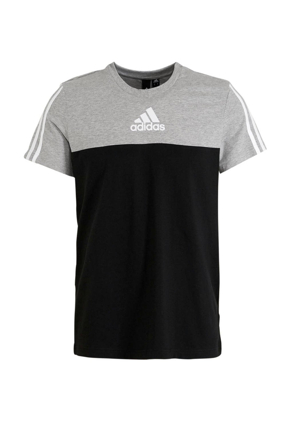 adidas Performance   sport T-shirt zwart/grijs, Zwart/grijs