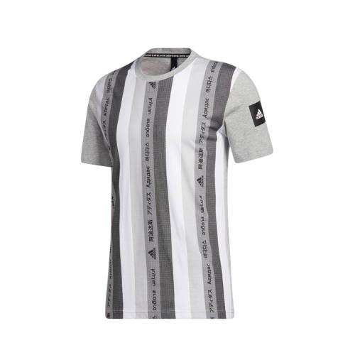 adidas Performance sport T-shirt grijs/wit