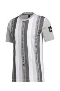 adidas Performance   sport T-shirt grijs/wit, Grijs/wit