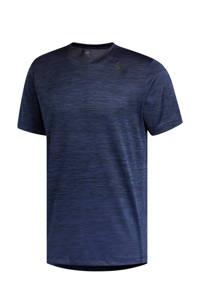 adidas   sport T-shirt donkerblauw melange, Donkerblauw melange