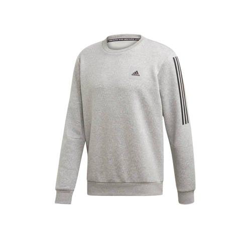 adidas Performance sportsweater grijs/zwart