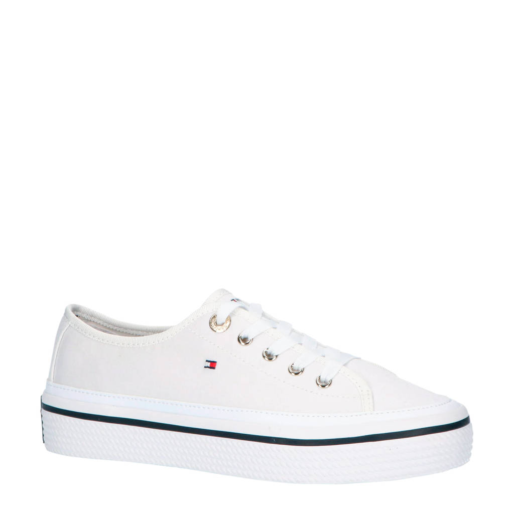 Tommy Hilfiger Corporate Flatform  sneakers wit, Wit