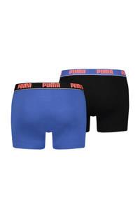 Puma boxershort Basic blauw (set van 2), Blauw / Zwart