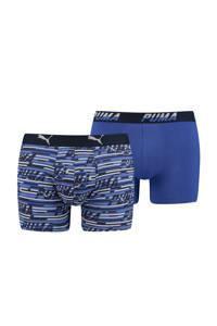 Puma boxershort Logo blauw (set van 2), Blauw
