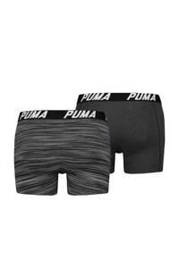 Puma boxershort Spacedye zwart (set van 2), zwart / grijs