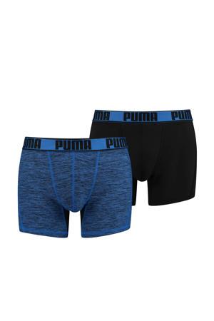 boxershort Active Grizzly blauw (set van 2)