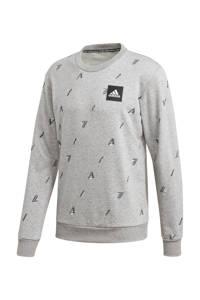 adidas Performance   sportsweater grijs/wit/zwart, Grijs/wit/zwart