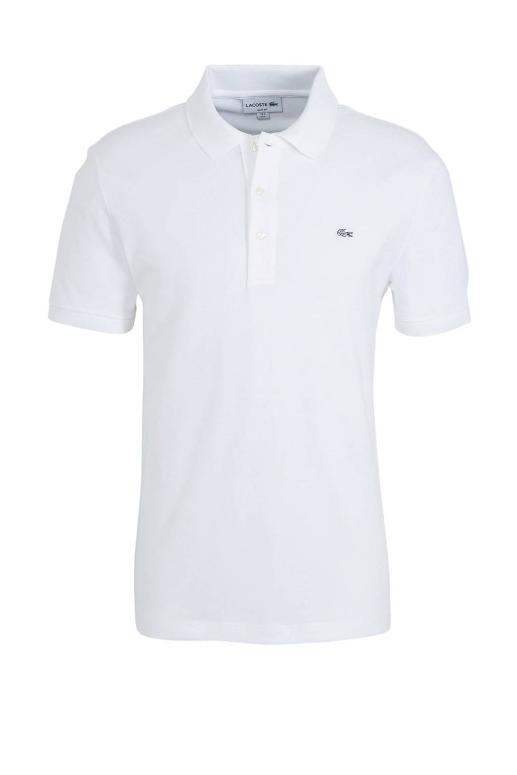 Lacoste slim fit polo wit, Wit