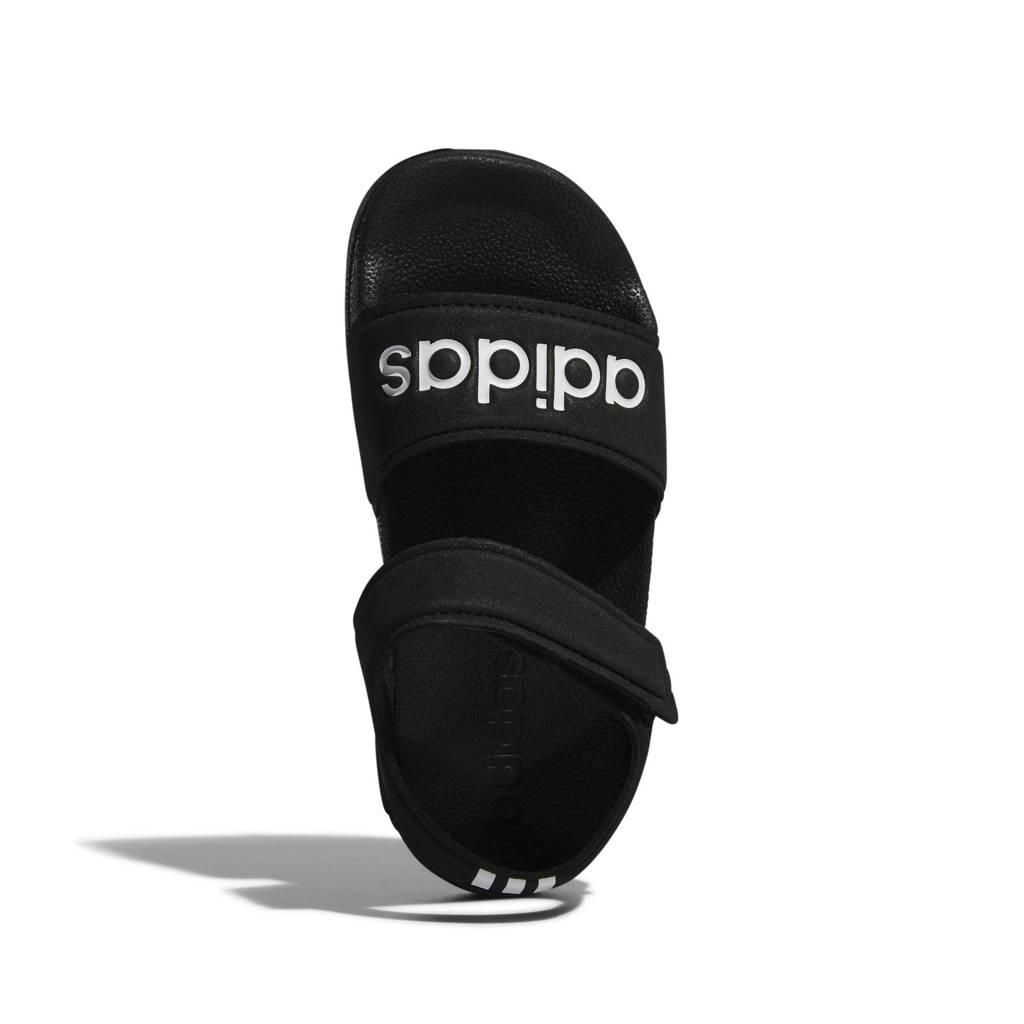 adidas Performance Adilette Sandal sandalen zwart/wit kids, Zwart/wit