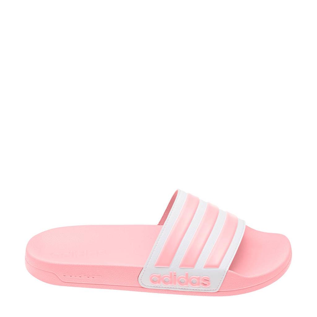 adidas Performance Adilette Shower  badslippers roze, Lichtroze/wit, Dames