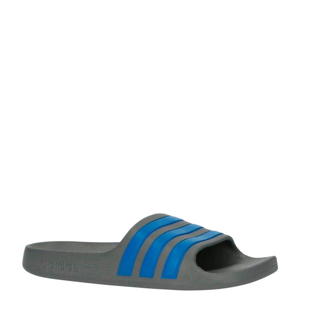 adidas Performance Adilette Aqua K badslippers grijs/blauw, Grijs/blauw