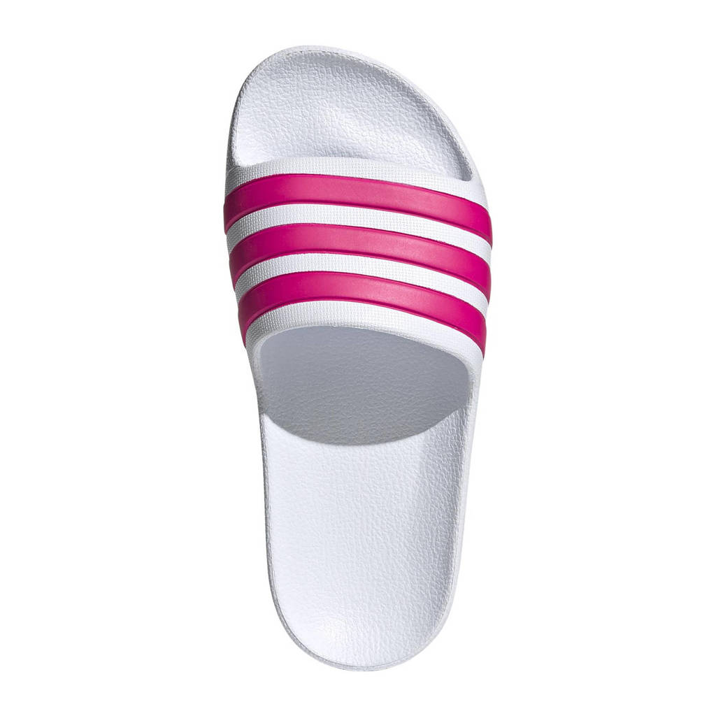 adidas Performance Adilette Aqua K badslippers wit/roze, Wit/roze