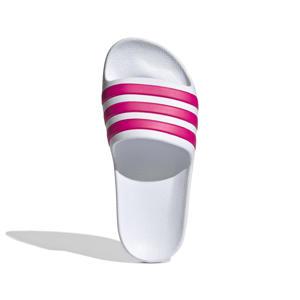 Adilette Aqua K badslippers wit/roze