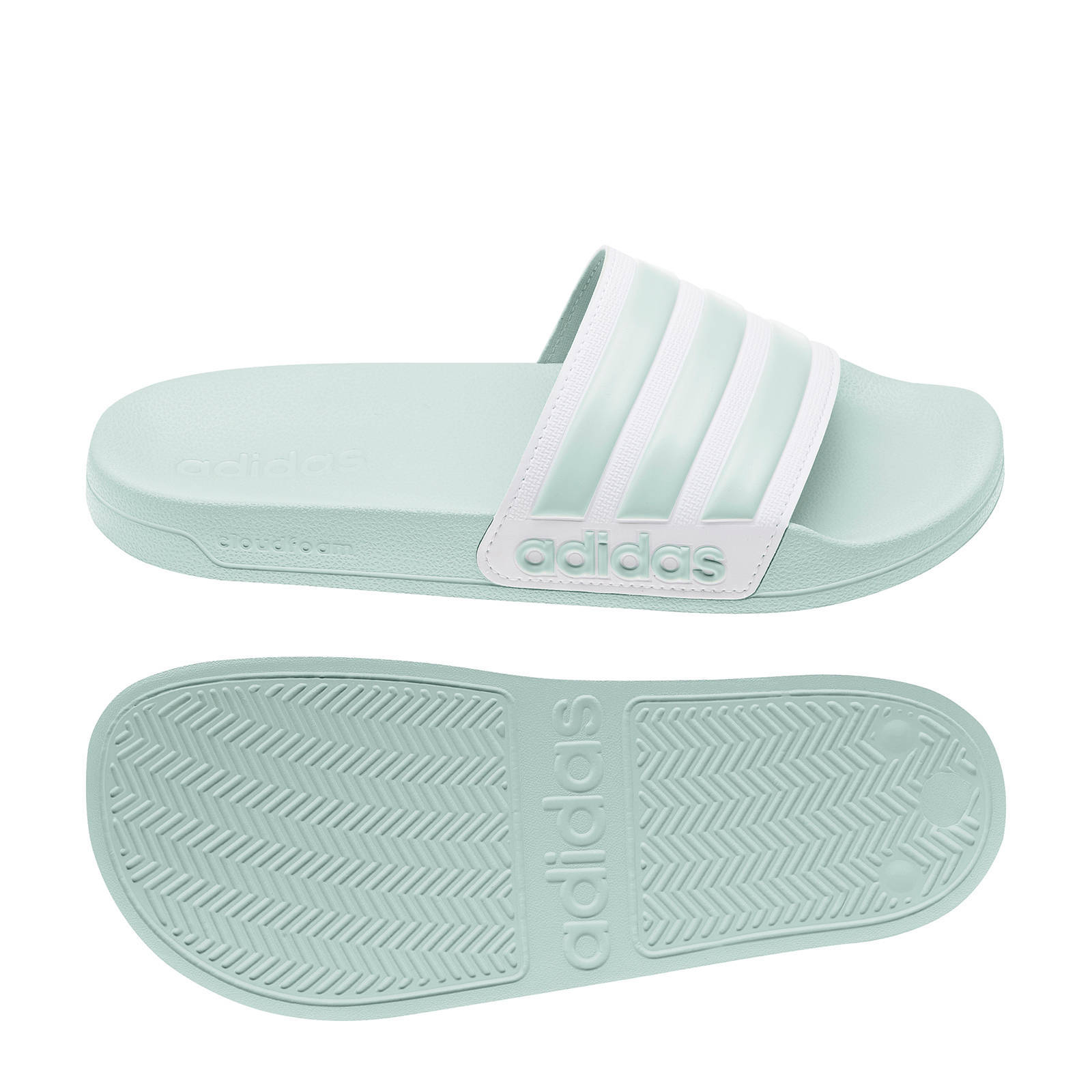 adidas Performance Adilette Shower badslippers mintgroen ...