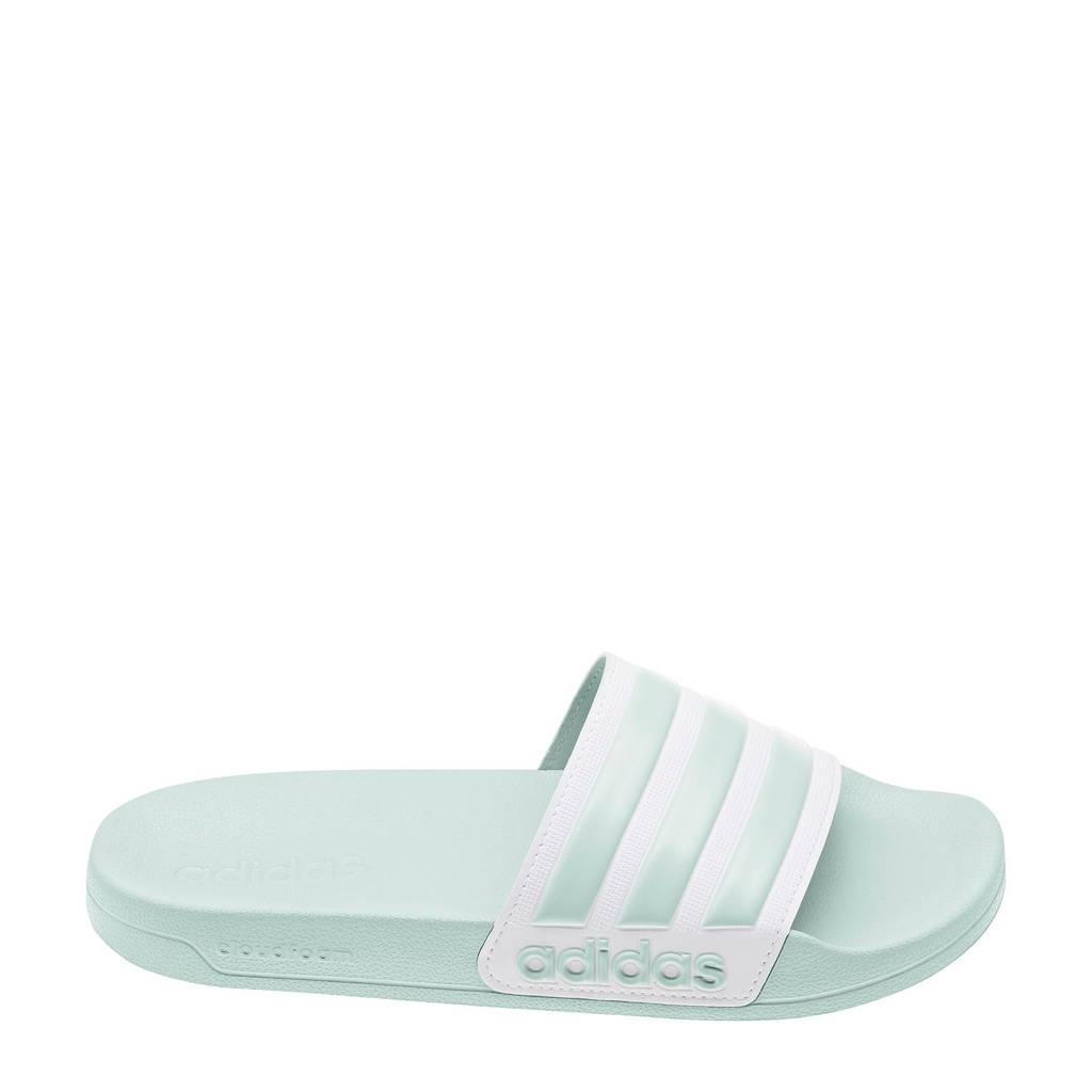 adidas Performance Adilette Shower  badslippers mintgroen, Mintgroen/wit
