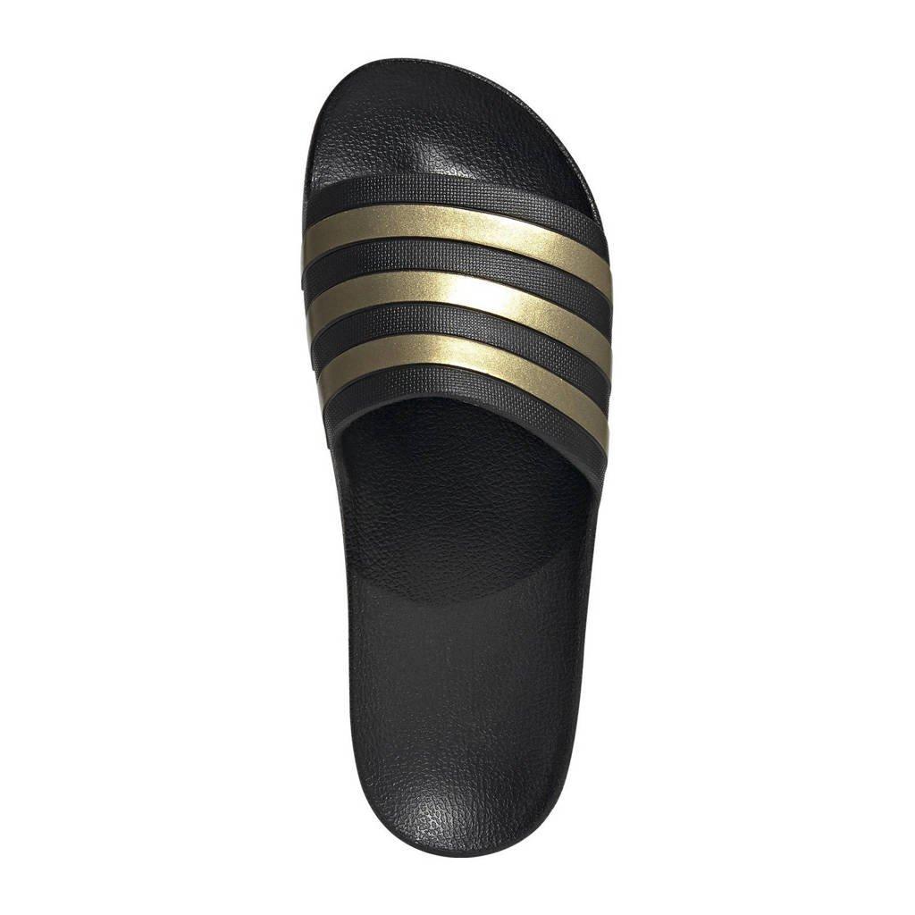 adidas Performance Adilette Aqua slippers zwart/geel, Zwart/geel