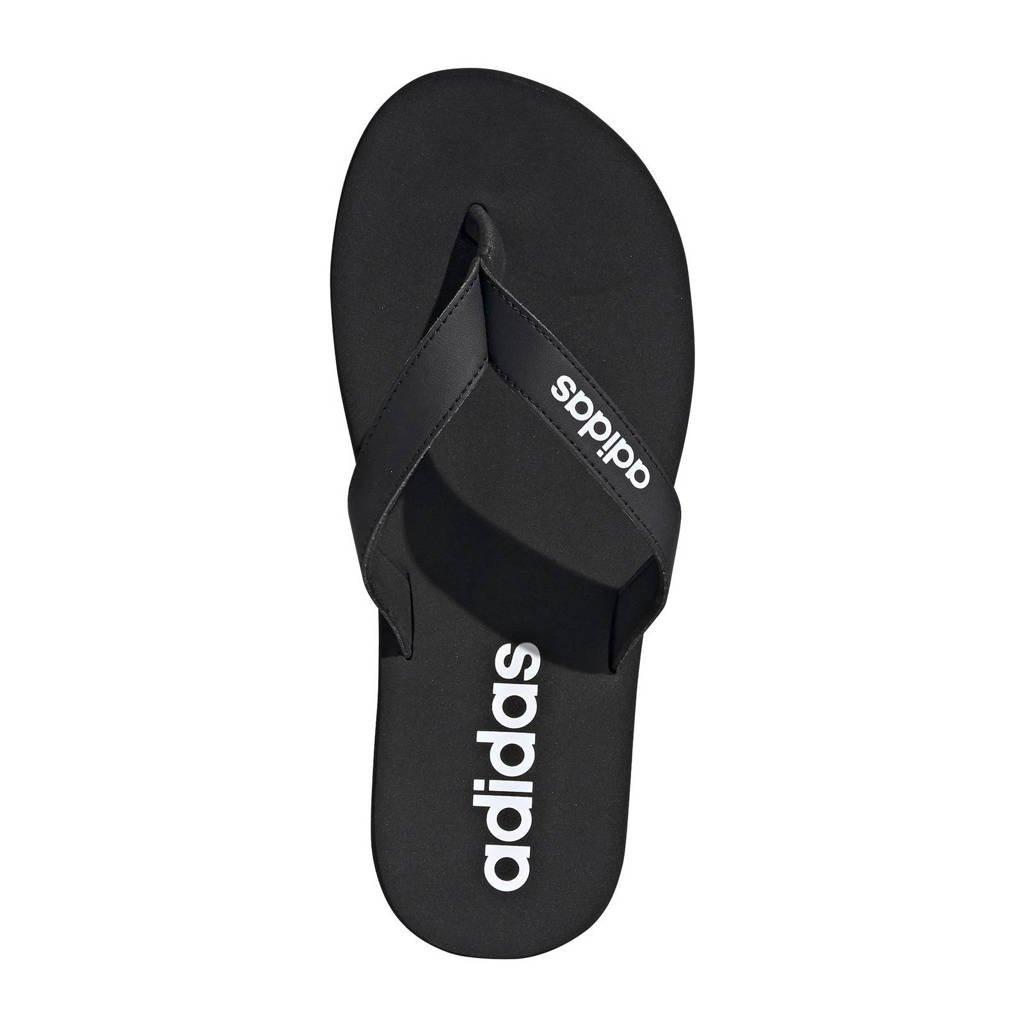 adidas Performance Eezay Flip flop teenslippers zwaert/wit, Zwart/wit