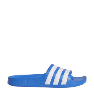 Adilette Aqua K badslippers blauw/wit