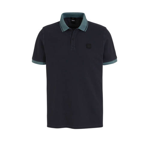 BOSS Casual slim fit polo marine