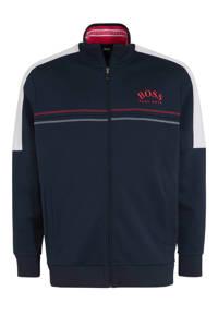 BOSS Athleisure Big & Tall vest met logo donkerblauw, Donkerblauw