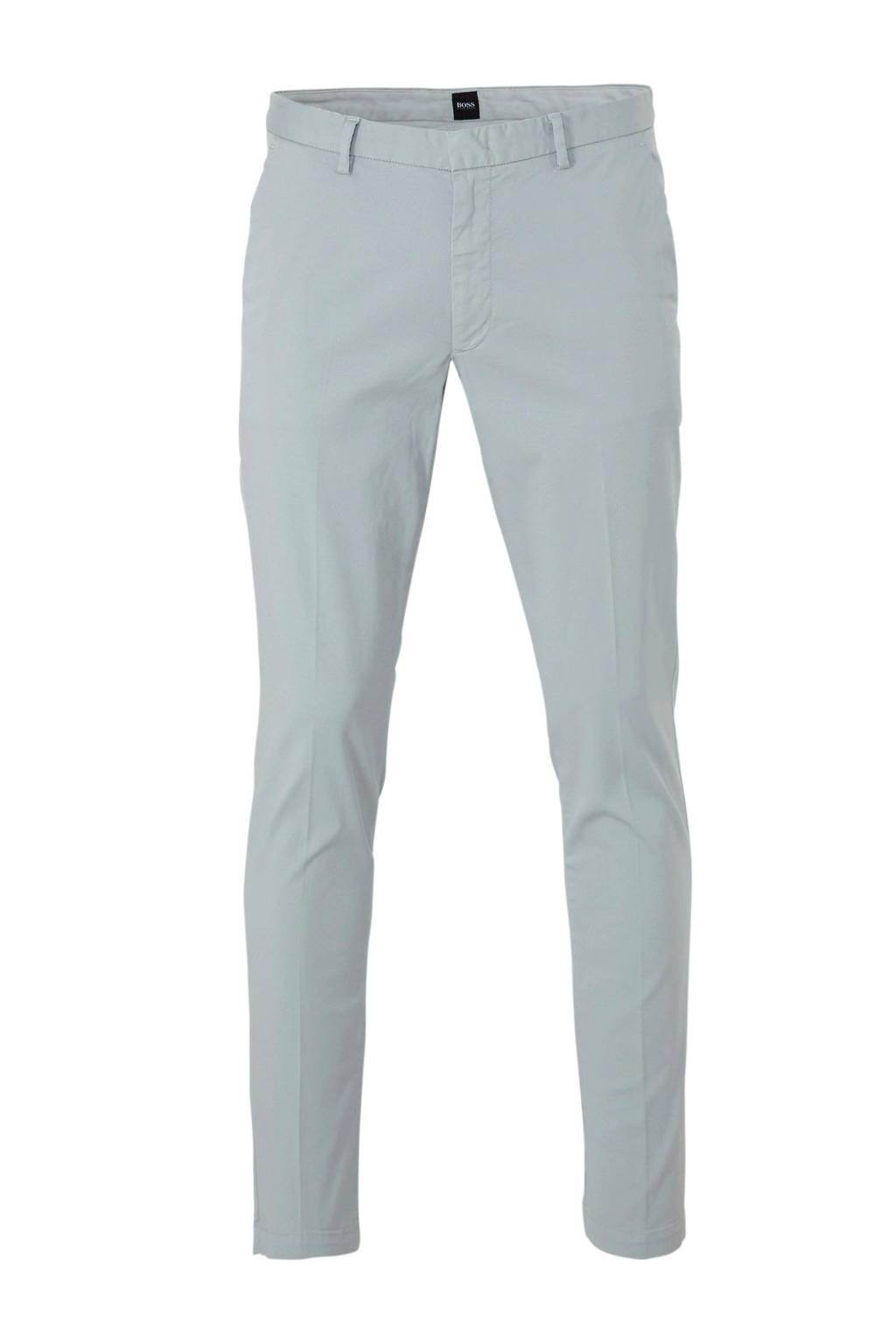 BOSS Menswear tapered fit pantalon grijs, Grijs