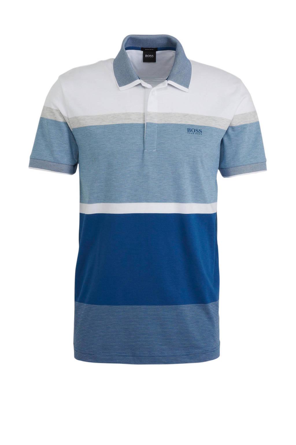 BOSS regular fit polo met logo meerkleurig, Meerkleurig
