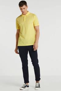 BOSS Menswear slim fit polo met logo geel, Geel