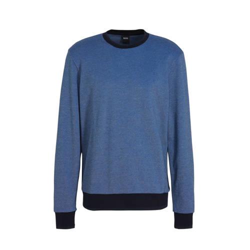 BOSS Menswear gem??leerde sweater blauw