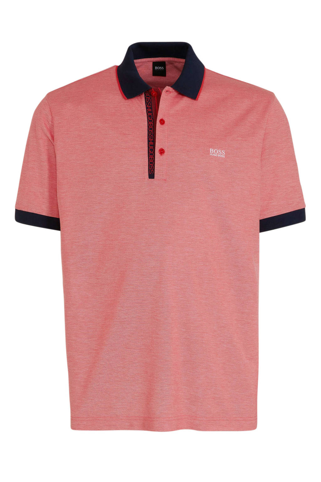 BOSS Athleisure Big & Tall regular fit polo met logo roze, Roze