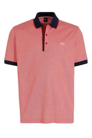 regular fit polo met logo roze