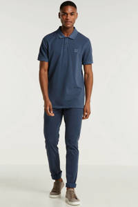 BOSS Casual slim fit polo marine, Donkerblauw