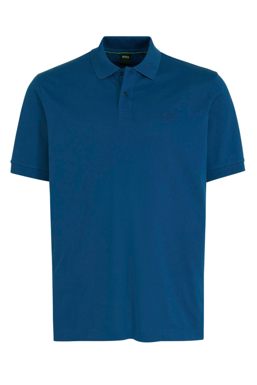 BOSS Athleisure Big & Tall regular fit polo met logo blauw, Blauw