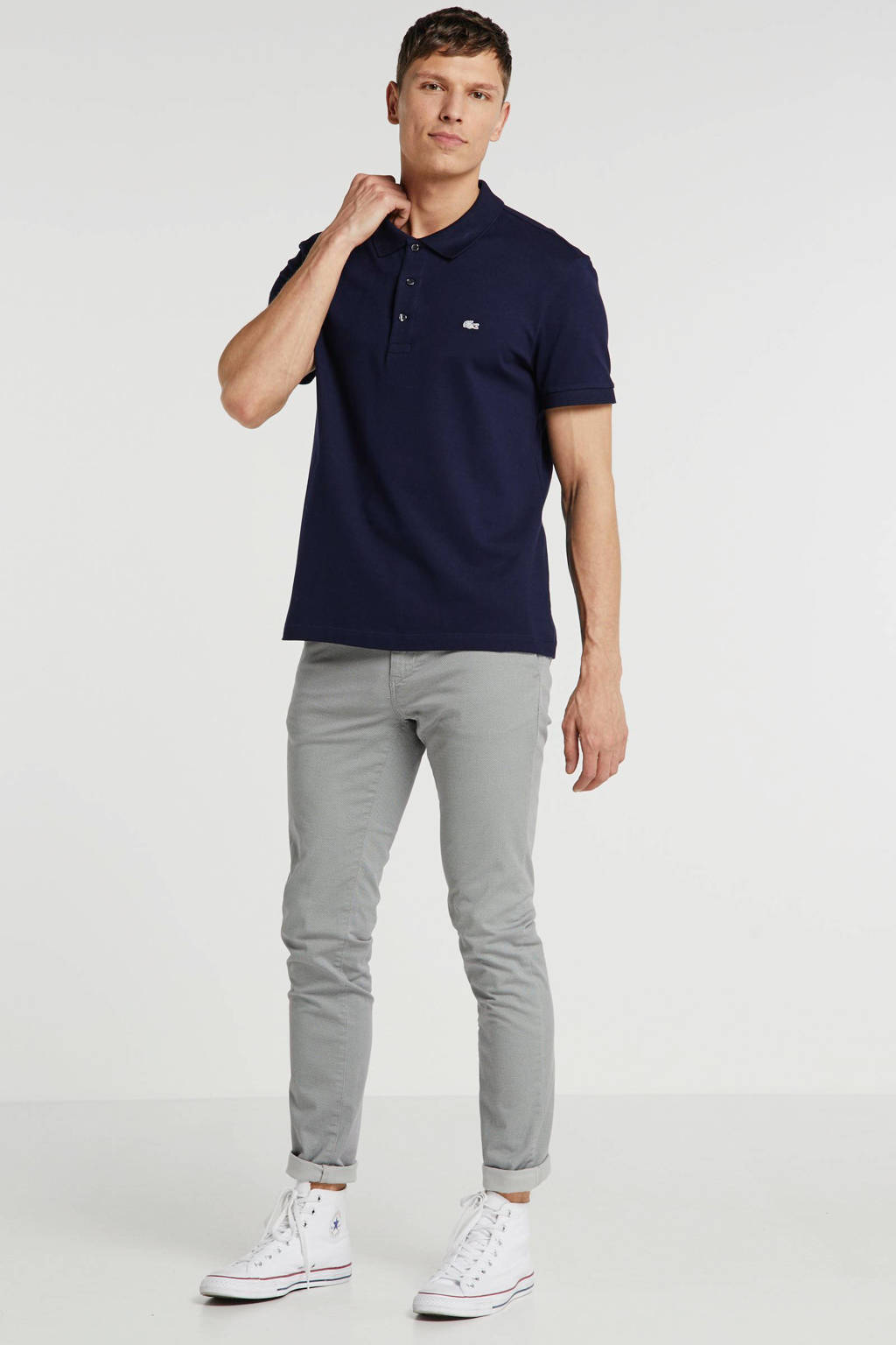 Lacoste slim fit polo donkerblauw, Donkerblauw