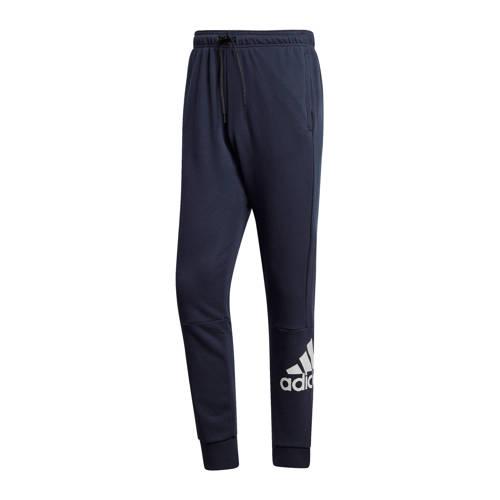adidas performance joggingbroek donkerblauw-wit
