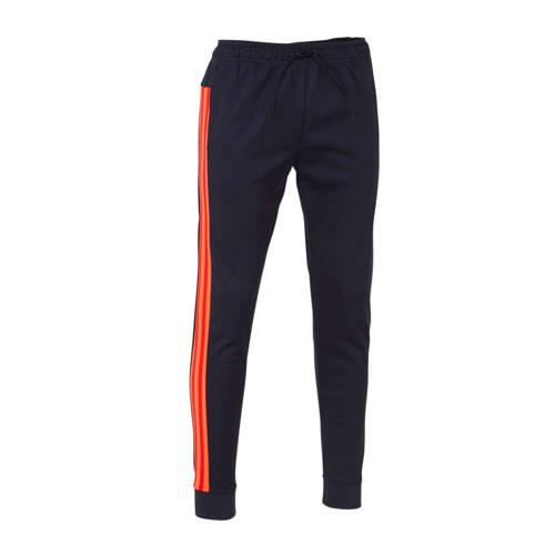 adidas Performance sportbroek donkerblauw/rood/ora