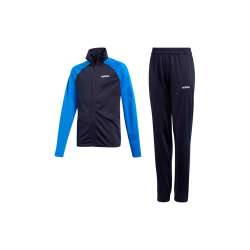 adidas performance trainingspak donkerblauw-blauw