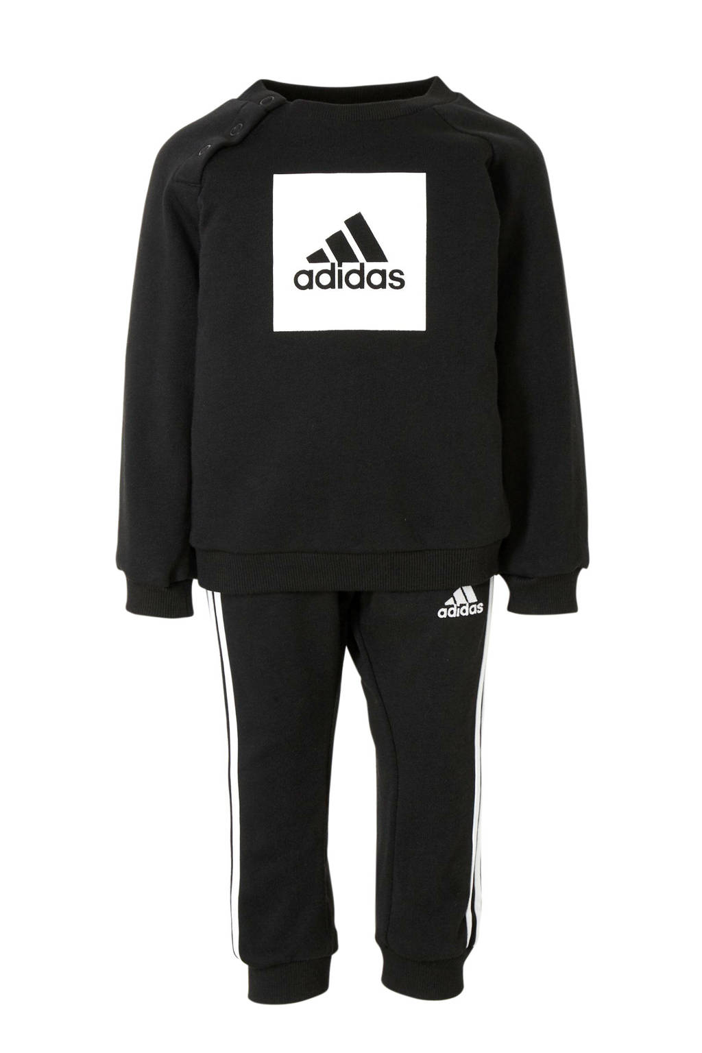 adidas   joggingpak zwart/wit, Zwart/wit