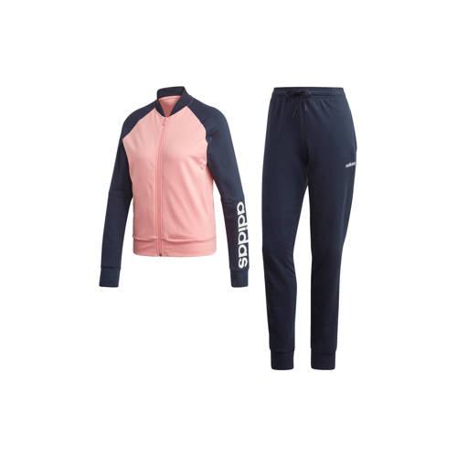 adidas performance trainingspak roze-blauw