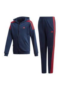 adidas   trainingspak donkerblauw/rood, Donkerblauw/rood