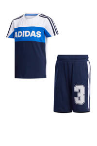 adidas Performance   trainingspak donkerblauw/wit, Donkerblauw/wit