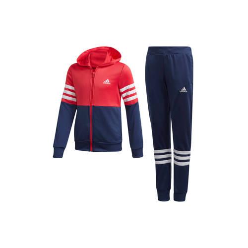 adidas performance trainingspak blauw-rood-roze