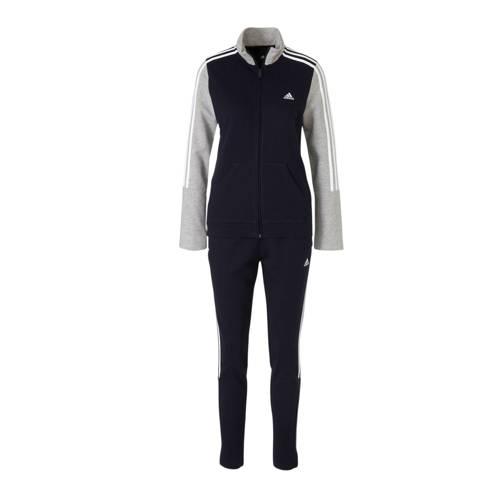 adidas performance trainingspak donkerblauw-grijs